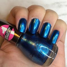 Sinful Colors - Shimmarine Blue Nail Polish, Blue Nails, Sinful Colors, Swatch, Nail Art, Thoughts, Beauty, Finger Nails, Nail Arts
