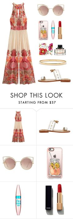 """""""Untitled #134"""" by latinna8 ❤ liked on Polyvore featuring Calypso St. Barth, Penelope Chilvers, MANGO, Casetify, Maybelline, Chanel and Kate Spade"""