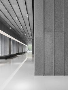 """This lobby to an office building of 1200m2 is mostly made with a recycled material, AIM Architecture after the """"Cork Office on the SOHO Jiarui Plaza"""" and """"Ho..."""