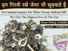 If you have money need we are providing the help you on the spot to selling your jewelry for the best market rate. We are the leading silver buyer in Delhi NCR and we pay the highest cash of your jewelry. Sell Your Gold, Sell Gold, Sell Silver, Instant Money, Buy Gold And Silver, Silver Ornaments, Jewelry Gifts, Jewellery, Earn Money