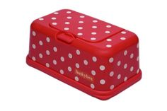 Funky Box FB05 Funkybox - Cajita para toallitas húmedas, color rojo diseño puntos