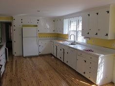 Genial Painted Cabinets And Knotty Pine Floor In The Kitchen By Jimschuknecht, Via  Flickr