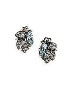 gem fleur earrings
