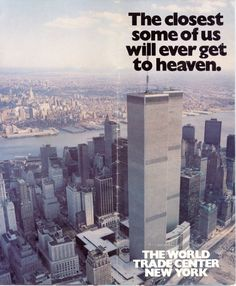 This is the front cover of the brochure given to visitors at the World Trade Center in New York.