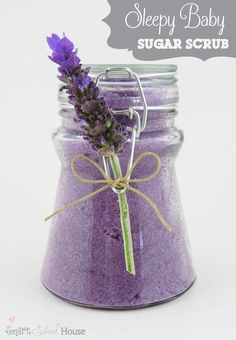 Sleepy Baby. A DIY Scrub. This pretty little scrub is made to help you relax and sleep like a baby