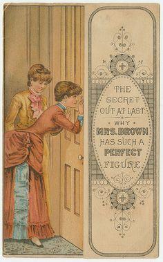 Duplex Corset 1/3 ca. 1885 ~ Ephemera