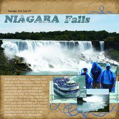 Niagra Falls -- Scrapbook Page