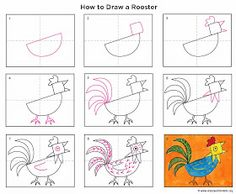 Art Projects for Kids: How to Draw a Rooster