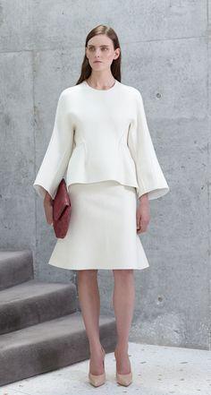 Scanlan Theodore Wool Felt Peplum Top, Wool Felt Peplum Skirt and Fold Over Clutch