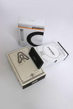 Alphabet pasta package 3x by Virág Veszteg, via Behance