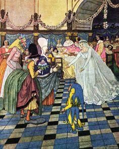 'Zlatovláska / Princess Goldielocks' by Karel Jaromír Erben, illustrated by Artuš Scheiner. First published 1911.