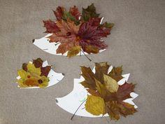 ježci z listí