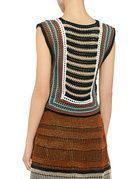 Red Valentino: Crochet Striped Cropped Knit Top (item view - Thumbnail 4)