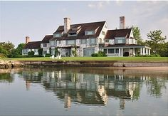 """""""FENWICK"""" Katharine Hepburn's amazing waterfront home in Old Saybrook Connecticut.  Katharine Hepburn called her family summer home, located in the posh borough of Fenwick in Old Saybrook, """"paradise."""" From its shore, she swam in the Sound nearly every day (up into her 80s), even when the beach was covered in snow."""