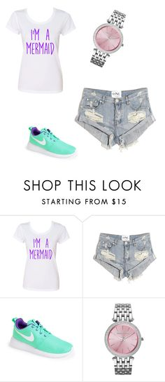 """""""Mermaid"""" by tunabug ❤ liked on Polyvore featuring interior, interiors, interior design, home, home decor, interior decorating, Disney, One Teaspoon, NIKE and Michael Kors"""