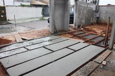 placas de concreto entrada - Pesquisa Google Stamped Concrete Driveway, Concrete Driveways, Concrete Patio, Patio Tiles, Outdoor Tiles, Driveway Design, Patio Design, Outdoor Landscaping, Backyard Patio