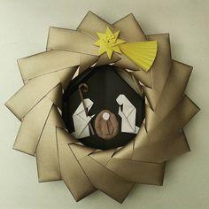 Mais da nossa produção natalina - Guirlanda presépio de origami #guirlanda…
