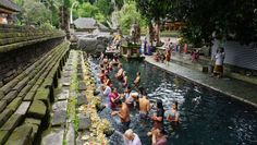 Tirta Empul is a water temple located in the village of Manukayu. The water from the pool comes from a natural spring.