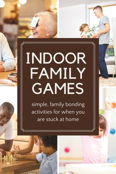 14 super fun indoor family games for when you are stuck inside! Games To Play Inside, Family Games To Play, Games To Play With Kids, Indoor Games For Kids, Board Games For Kids, Indoor Family Activities, Rainy Day Activities, Game Happy, Family Game Night