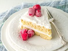 Coconut Flour Classic Vanilla Cake from Indulge Cookbook @ Healy Real Food Vegetarian