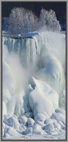 canada in winter niagara falls Winter Pictures, Nature Pictures, Beautiful Waterfalls, Beautiful Landscapes, Image Nature, Winter Scenery, Winter Landscape, Science And Nature, Amazing Nature