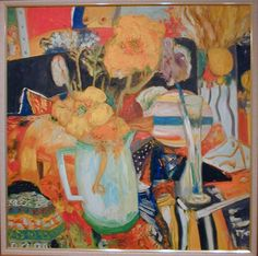 John Bellany 'Beautifil Flowers ' Oil on Canvas.