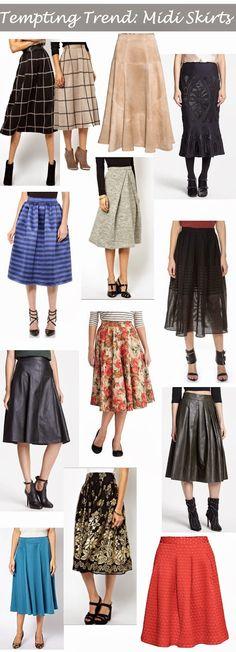 Tempting Trend: Midi Skirts