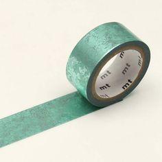 11f14499e304 MT fab Foil Washi Tape   Green Dust