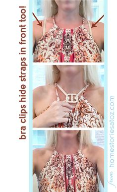 What a great idea to hide bra straps in front!