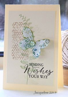 Just a simple layout/ The butterfly was stamped on a scrap and white embossed.