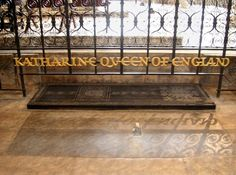 Katharine of Aragon's grave at Peterborough Cathedral
