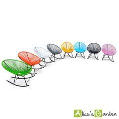 Acapulco Rocking : fauteuils oeufs à bascule http://www.alicesgarden.fr/mobilier-jardin/chaise/fauteuils-huevo-rocking?selected=711