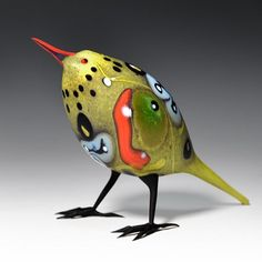 Pismo Fine Art Glass Shane Fero yellow wagtail