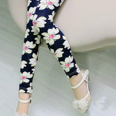 Girls Leggings Brand Children Leggings Spring Summer Print Color Skinny Kids Leggings for Girls Pants 18Colors