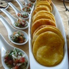 """""""Sopaipilla"""" is a famous chilean food and one of my favorite food, first because it's easy to cook and also because it's very tasty. Sometimes """"sopaipillas"""" taste a little bland but you can mix them with pebre. Mexican Food Recipes, Real Food Recipes, Cooking Recipes, Yummy Food, Tasty, Chilean Recipes, Chilean Food, Fingers Food, My Favorite Food"""
