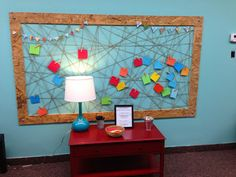 VCC Kids: Worship Response Stations: Wall of Blessing  Kids write (or draw) what they are thankful for and clip it to the twine board.  Fun AND special!