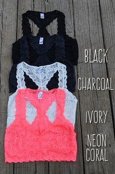 Racerback Lace Bralette – Groovy's