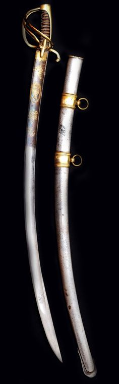 Napoleonic Swords and Sabers Collection: Officer Horse Chasseur's Sword from Napoleon Imperial Guard