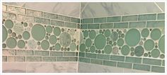 Green Bubble Glass Mosaic, lovely in a bathroom! - Available to order today at Fiorano Tile Showrooms & Country Tile by Fiorano!