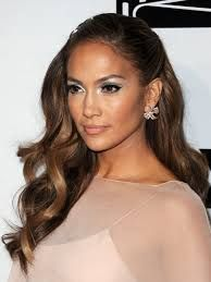 jlo half up half down hair - Google Search