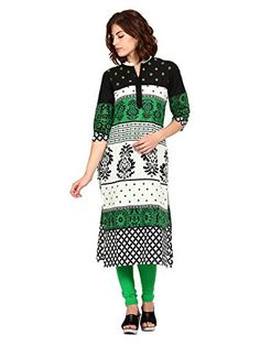 Fashionable Women's Straight Kurta - http://www.zazva.com/shop/women/fashionable-womens-straight-kurta-2/ Material: Cotton with three quarter sleeve and banded collar Straight fit Calf length