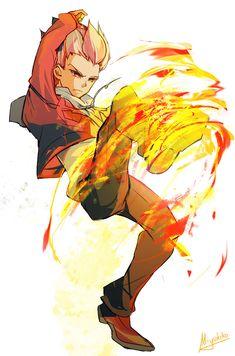 My idol 😆 Super 11, Inazuma Eleven Axel, Anime Guys, Manga Anime, Fire Tornado, Photoshop Website, Go Wallpaper, Joker Art, Neko