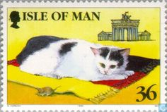 """Postage Stamps - Man - Cats Use coupon code """"PINME"""" for 40% off all hammocks on our site maderaoutdoor.com"""