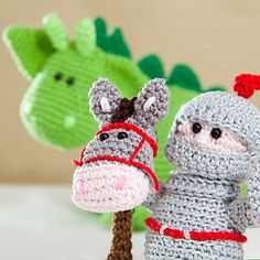knight and dragon #crochet #amigurumi