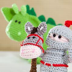 knight and dragon #crochet #amigurumi