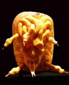 Spook Your Trick-Or-Treaters This Halloween With ==> Pumpkin Carving <== Lessons. Ray Villafane Extreme Pumpkin Carving DVD Tutorials Is A Great Source