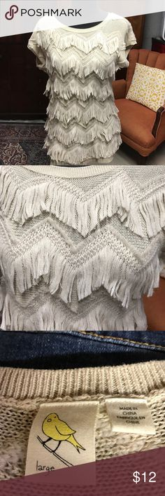 Anthropologie Sweater Cotton/Acrylic/Wool blend Anthropologie Sweaters Crew & Scoop Necks