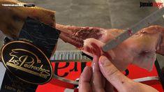 Cómo cortar jamón tutorial: Corte del jarrete - YouTube