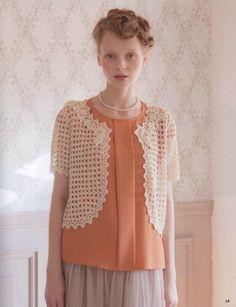 "Photo from album ""Let's Knit Series 06 Couture Knit"" on Yandex. Knitting Designs, Crochet Designs, Japanese Patterns, Irish Lace, Manga, Pattern Design, Knitwear, Knit Crochet, Ruffle Blouse"