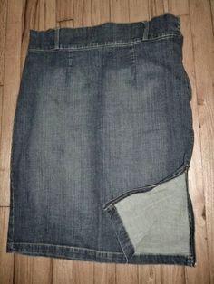 BISOU BISOU Denim Dark Blue Jean Skirt Pencil Maxi Sexy Zippers Distressed 16 #BISOUBISOU #StraightPencil